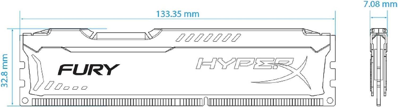 Black Kingston HyperX FURY 4GB 1333MHz DDR3 CL9 DIMM HX313C9FB//4