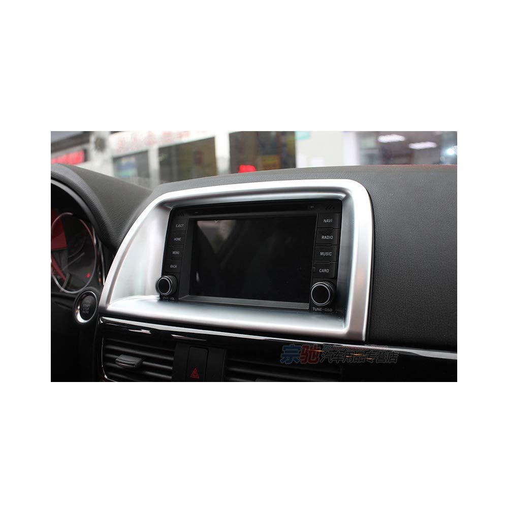Yp ABS Cromato per Console Centrale GPS Audio Decoration Frame Cover Trim per Mazda CX-5 2013 2016