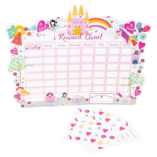 Floss & Rock Reward Chart with Dry Erase Pen and Stickers (Fairy Unicorn) by Floss & Rock