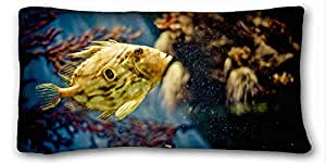 Soft Pillow Case Cover Animal Custom Cotton & Polyester Soft Rectangle Pillow Case Cover 20x36 inches (One Side) suitable for Full-bed