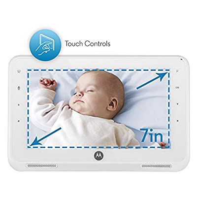 "Motorola MBP867 7"" LCD Digital Video Baby Monitor (White)"