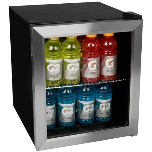 Door Display Fridge (EdgeStar BWC70SS 62-Can Beverage Cooler - Stainless Steel)