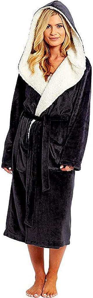 Alueeu Women Kimono Robes Cotton Bathrobe Soft Sleepwear Ladies Loungewear Home Clothes Long Sleeved Robe Coat