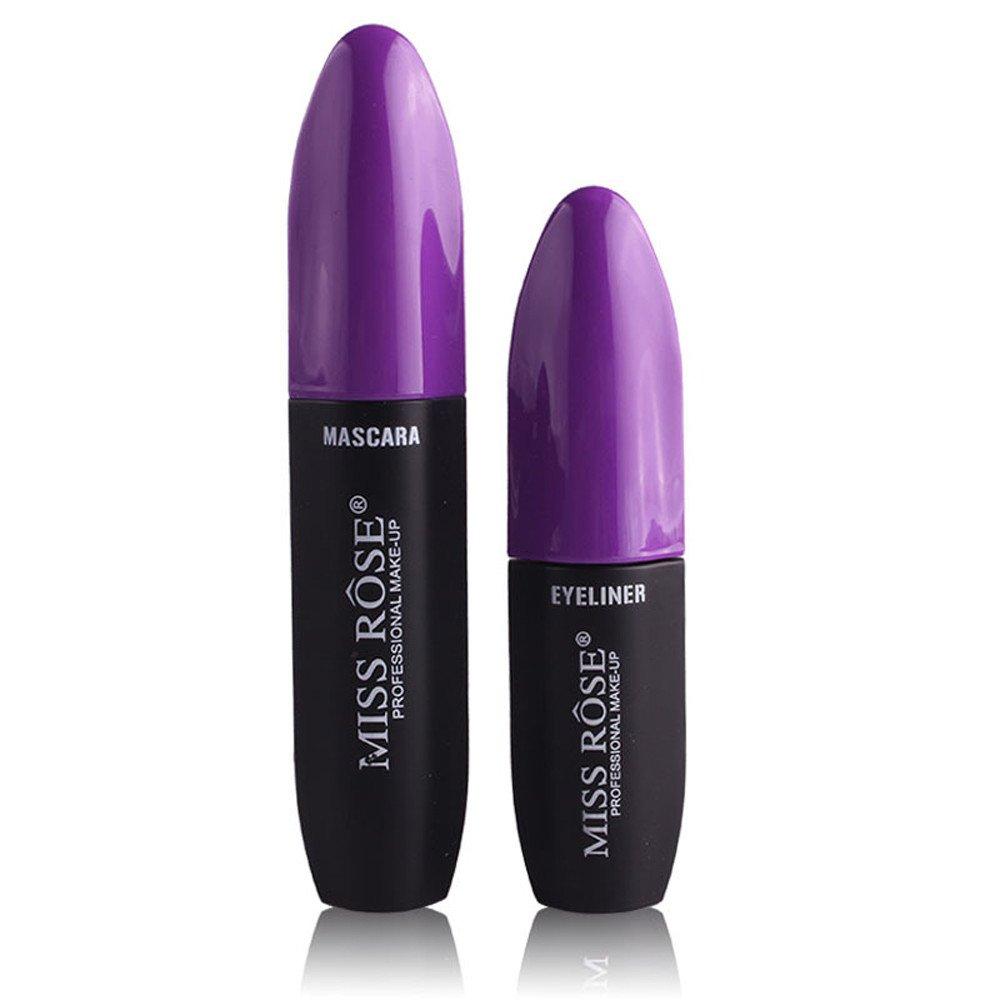 Make Up Lashes, Makeup Brushes & Tools, Eyeshadow, Women Eye Liner Eyeliner Fiber Waterproof Lash Mascara Two Pens Makeup Tools