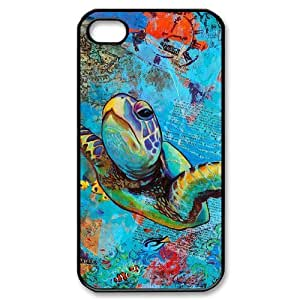 Sea Turtle The Unique Printing Art Custom Phone Case for Iphone 4,4S,diy cover case ygtg565131