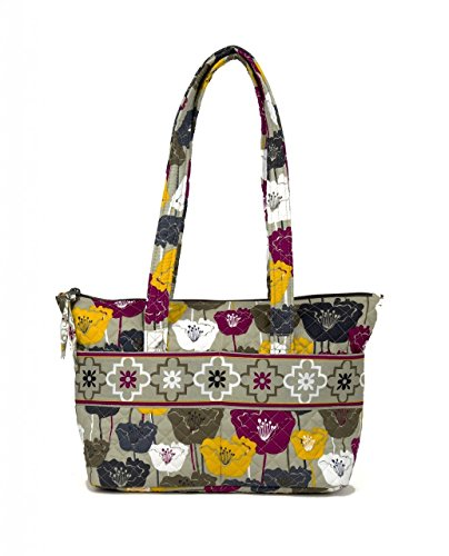Zip Tote - Perfectly Poppy (Quilted Zip Top Tote)
