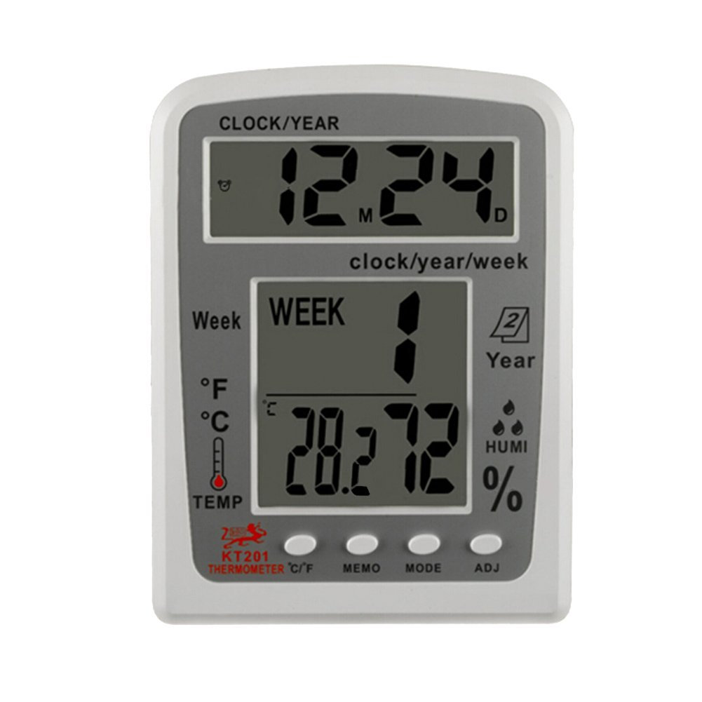 Matefield KT201 Digital LCD Thermometer Hygrometer Electronic Temperature Humidity Me