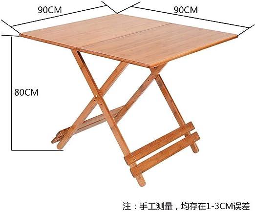 DX Mesa Plegable Mesa Plegable de bambú para el hogar Mesa ...