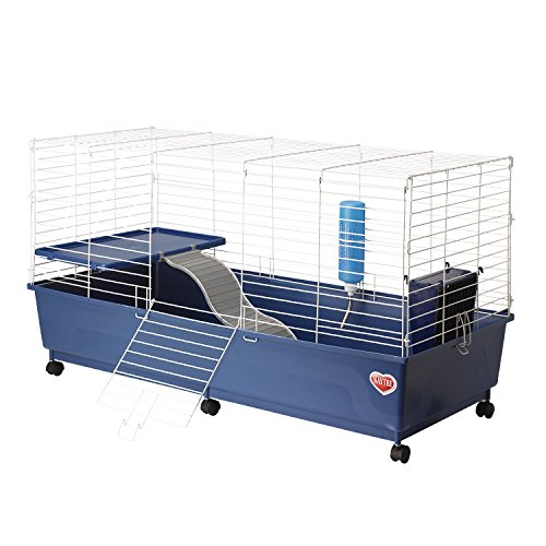 Kaytee My First Home Rabbit 2-Level Cage with Caster Wheels (First Cage Home)