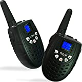 Image of 7TECH Walkie Talkies For Kids 22 Channel FRS GMRS 121 Code 2 Way Radio (Up to 5KM) 1 Pair in Black