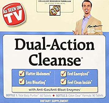 Applied Nutrition Dual Action Cleanse, 2Pack 150 Count Package Unflavored grit-Free