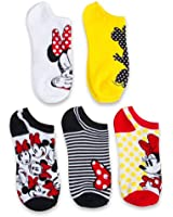 Disney Women's Classic 5-Pack No Show Socks