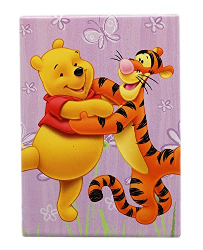 (Disney's Winnie the Pooh and Tigger Lavender Floral Background Rectangle Magnet)
