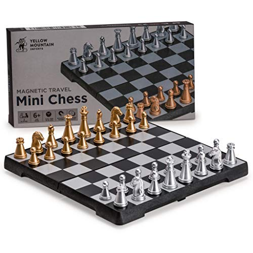 Yellow Mountain Imports Travel Magnetic Chess Mini-Set, 6.3 Inches [並行輸入品] B07SFF1KYL