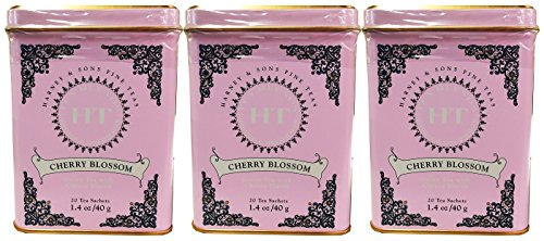 (Cherry Blossom Tea, 20 Sachets in Tin by Harney & Sons - Pack of)