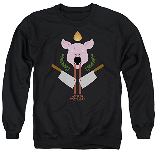 (American Horror Story Pig Cleavers Unisex Adult Crewneck Sweatshirt for Men and Women, Large Black)