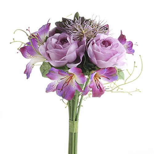 Engaging Assortment of Lovely Purple Artificial Rose and