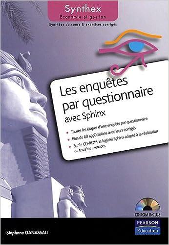 Lire Les Enquêtes par questionnaire avec Sphinx pdf ebook