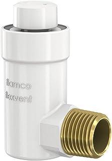 Flamco 27711 Flexvent H 1/2'' Purgeur d'Air Automatique en Laiton - Séparateur Air Automatique Aoudé Couleur Blanc