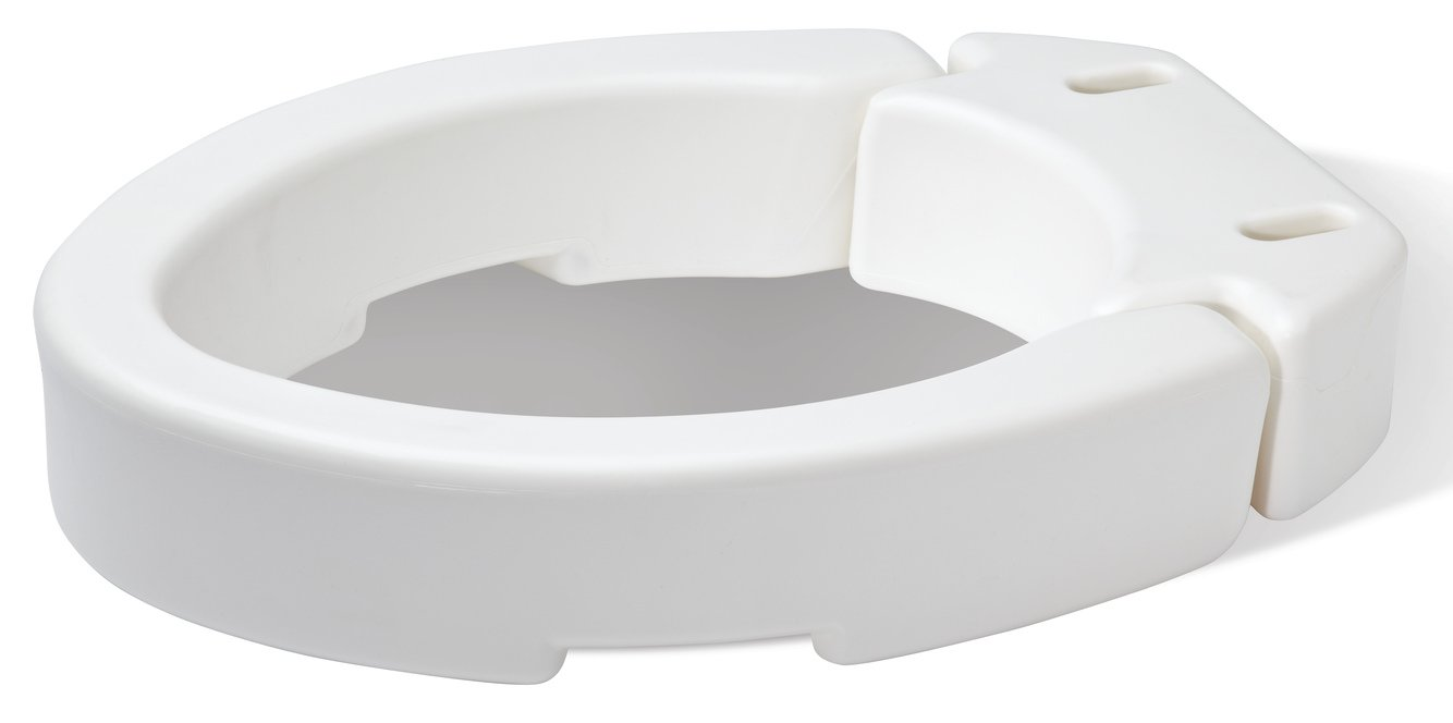 2 inch toilet seat. Amazon com  Carex Elongated Hinged Toilet Seat Riser Adds 3 5 Inches of Height to 300 Pound Weight Capacity for Easy Cleaning Health