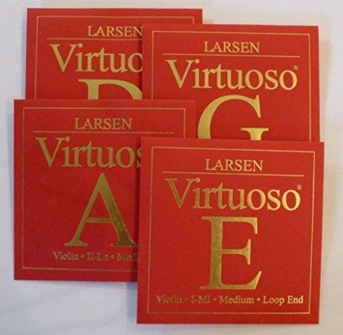 G Larsen Plata 4/ª Medium Violin 4//4 Virtuoso CUERDA VIOLIN