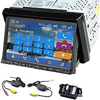 Wince 8 UI Design 7-inch Double DIN GPS Car Stereo In Dash Navigation Car Radio Car DVD/CD/Player Bluetooth FM/AM Radio Dual Core Free Wireless Backup Camera