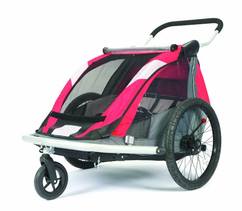 Amazon.com : Croozer 525 Double Child Bicycle Trailer (Red/Silver ...