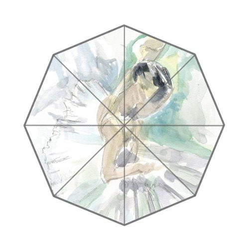 Swan Lake Ballerina Painting Art Custom Unique Durable Custom Foldable Umbrella by CustomLittleHome