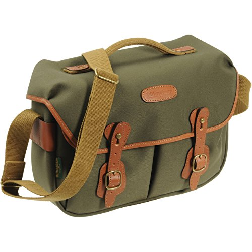 - Billingham Hadley Pro, Small SLR Camera System Shoulder Bag, Sage with Tan Leather Trim.