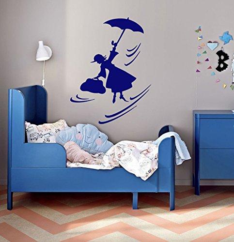 Hada Maga Mary Poppins paraguas habitación de los niños Niños elegante pared arte adhesivo g8969: Amazon.es: Hogar