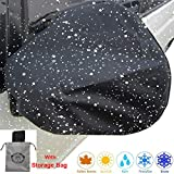 Auto Side Mirror Protect Cover 2 PACK Huge Snow Ice Mirror Cover Universal Size Fits Cars SUV Truck Van with Advanced Anti Bird Poop Technology Frost Guard Mirror Cover Side View Mirror Cover(16x15in)