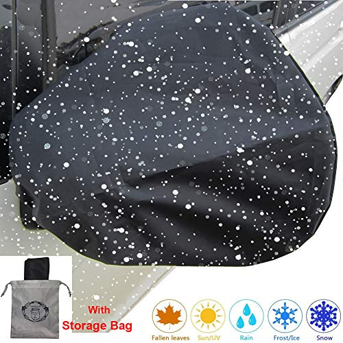 Auto Side Mirror Protect Cover Huge 4 Pack Snow and Ice Mirror Covers Universal Size Fits Cars SUV Truck Van with Advanced Anti Bird Poop Technology Frost Guard(16x15in)