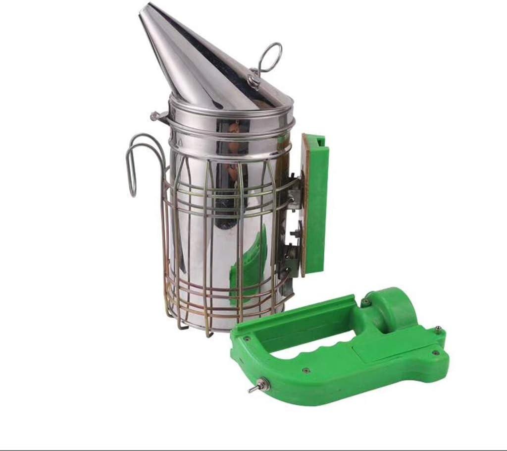 Junlinto, Kit de transmisor de Humo de Abeja eléctrico Herramienta de Apicultura eléctrica de Acero Inoxidable Apicultor de ahumador de Abejas