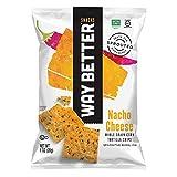 Way Better Snacks Nacho Cheese Tortilla Chips, 1 Ounce -- 12 per case.