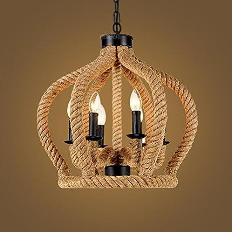 GQLB Ferro da stiro lampadari stile Liberty Creative spago ...