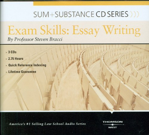 Sum and Substance Audio on Exam Skills: Essay Writing by West Academic Publishing