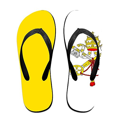Vatican City Flag Cool Flip Flops For Children Adults Men And Women Beach Sandals Pool Party Slippers]()