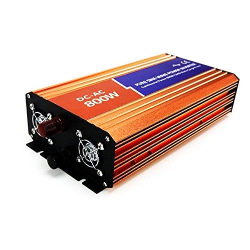MabelStar 800W Power Inverter 12VDC 230VAC Peak Power 1600W Off-grid Pure Sine Wave Inverter MSLP160007