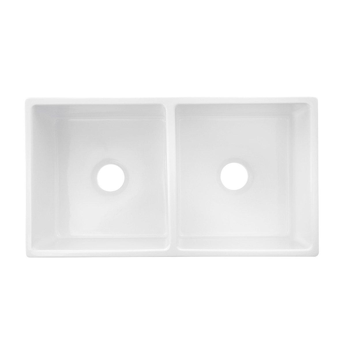 Amazon.com: Highpoint Collection Italian Fireclay Double Bowl ...