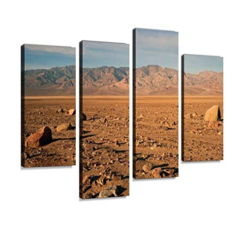 Beautiful Sunrise Death Valley National Park Canvas Wall Art Hanging Paintings Modern Artwork Abstract Picture Prints Home Decoration Gift Unique Designed Framed 4 Panel (Sunrise Death Valley Park National)