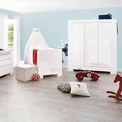 lounge-zone ARMARIO Armario cielo Pinolino 3 PUERTAS blanca Muy brillosa SOFTCLOSE incl. Estantes