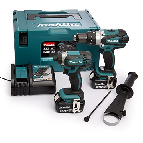 Makita DLX2145TJ Combi Drill and Impact Driver 18 V Kit with 2 x 5.0 Ah...
