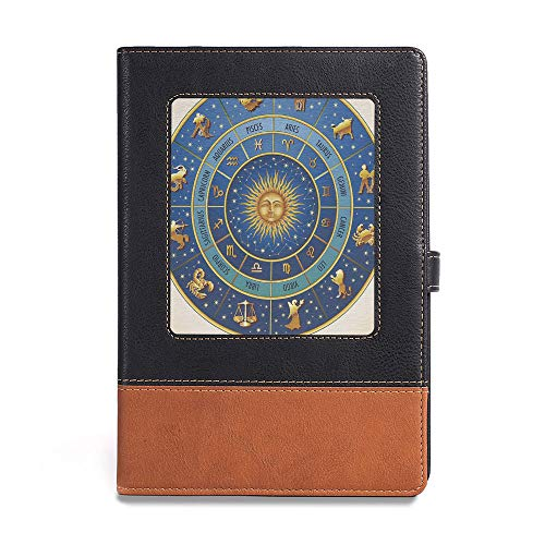 Vintage Writing Notebook Diary,Astrology,A5(6.1