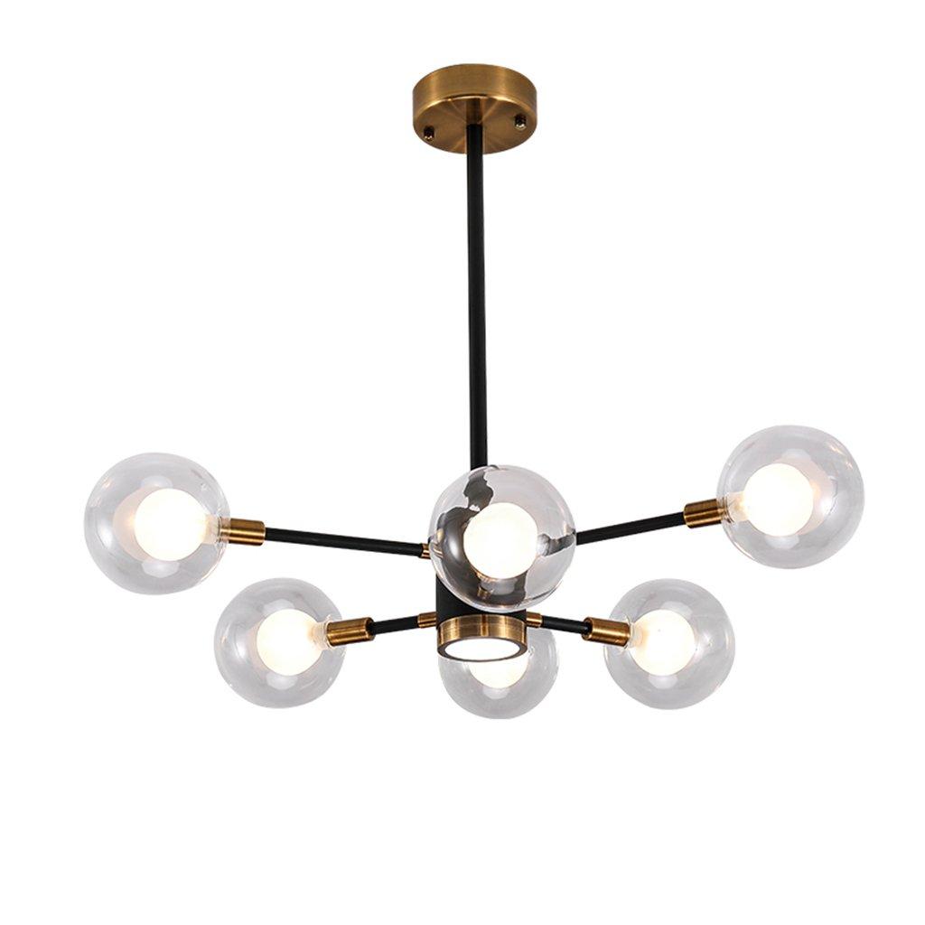 シーリングライト モダンペンダント照明LEDクリエイティブゴールドマジックビーンズレストランベッドルームシャンデリアファッションストアG9天井ランプ - 6ヘッド [エネルギークラスA ++]   B07T1T36TL