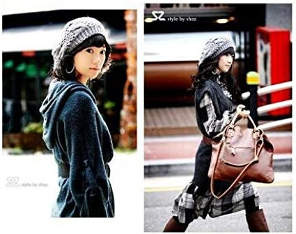 New Chic Warm Winter Women Beret Braided Baggy Knit Crochet Beanie Hat Ski Cap