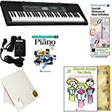 Homeschool Music - Learn to Play the Piano Pack (Church Songs for Kids 5 Finger Bundle) - Includes Casio CTK 2550 Keyboard w/Adapter, learn 2 Play DVD/Book, Books & All-Inclusive Learning Essentials