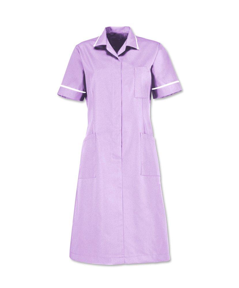Chest Size 28 Alexandra AL-D312LI-132S Series AL-D312 Zip Front Dress Short Plain Lilac White Piping//Trim Size 132 cm