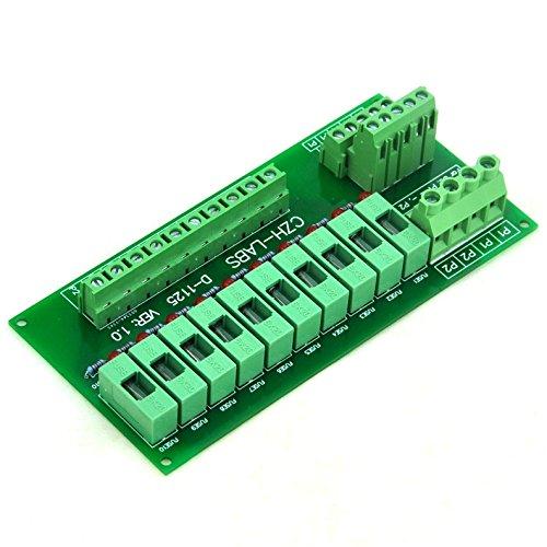 Electronics-Salon Panel Mount 10 Position Power Distribution Fuse Module Board, For AC110V . by Electronics-Salon (Image #2)