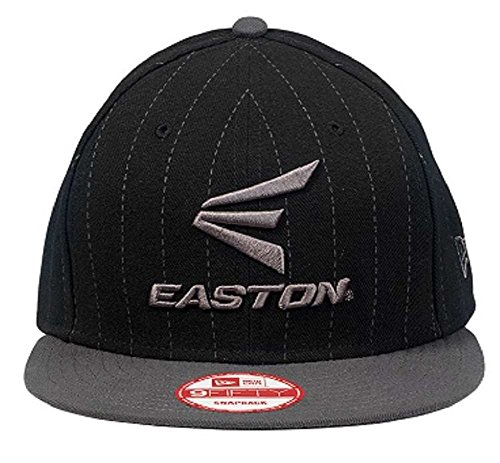 (Easton M10 Pinstripe 9FIFTY Black / Grey Cap Adult One Size Fits All A167904)
