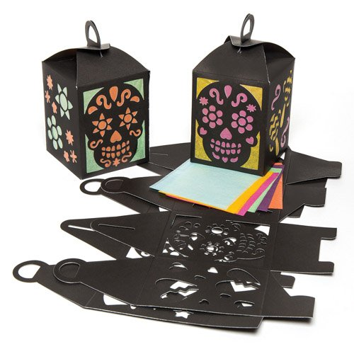 Skull Lantern Kits for Children. Make Your Own Halloween Decoration with This Creative Set for Children (Pack of (Make Your Own Halloween Decorations Ideas)
